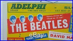 1963 THE BEATLES original 10 x 13 concert poster (Adelphi, Slough) John Lennon