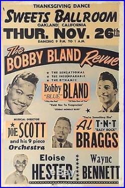1964 Bobby Blue Bland Original Pre-Fillmore Boxing Style Concert Poster