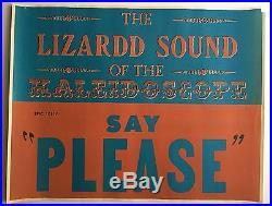 1966 Kaleidoscope Please Promo Poster LA Psychedelic Art Concert Psych