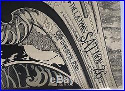 1966 Lynch Mob Presents The Hobbit Concert Poster LA Tymes Psychedelic Art