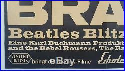 1966 THE BEATLES original German concert poster (Bravo Blitztournee Tour) Lennon
