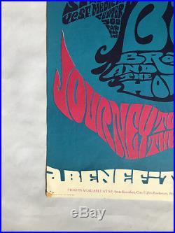1967 Big Brother (Janis Joplin) Steve Miller Concert Poster UCSF Orig