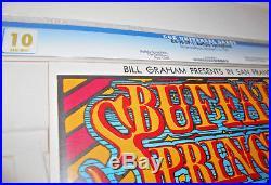 1967 CGC 10 GEM Fillmore-Buffalo Springfield Concert Poster BG-98-OP-1 RARE