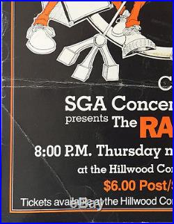 1979 The Ramones C. W. Post College Original Punk Concert Poster