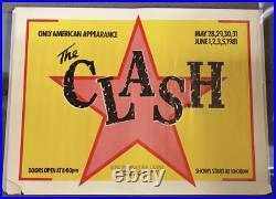 1981 Clash Bond International Casino Original Vintage Concert Poster Large