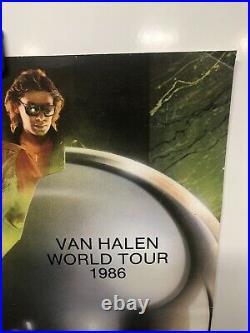 1986 Original Vintage Van Halen Concert Tour Poster