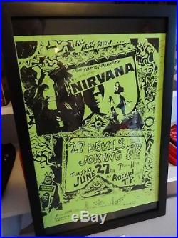 1989 Nirvana Santa Fe Curley ART Print Poster original concert Handbill 11x14.5