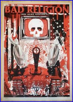 2004 Bad Religion Dallas Silkscreen Concert Poster A/P by Todd Slater