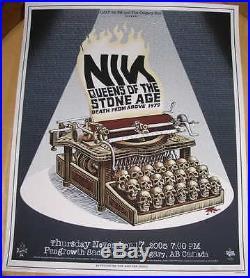 2005 Nine Inch Nails & QOTSA Calgary Silkscreen Concert Poster by EMEK