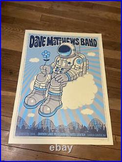 2009 Dave Matthews Band Darien Lake Concert Poster RARE Signed AP Rare Spaceman