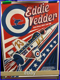 2009 Eddie Vedder Concert Tour Poster Klausen/Vedder (Red Jet)