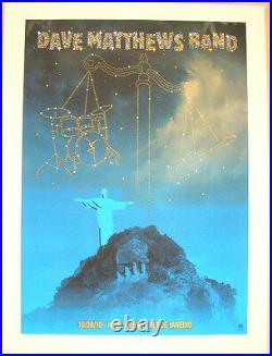 2010 Dave Matthews Band Libra Zodiac Rio 10 Concert Tour Poster 10/8 Brazil Bonu