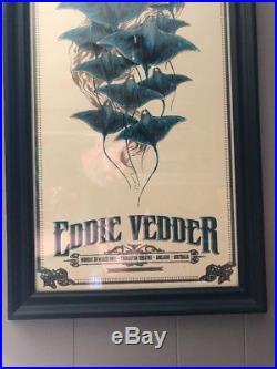 2011 Eddie Vedder Pearl Jam Archival Framed Concert Poster Australia Ken Taylor