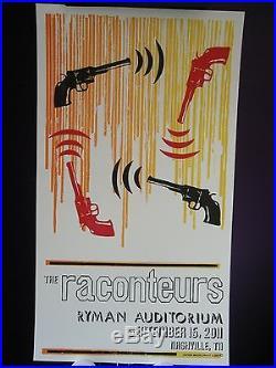 2011 Raconteurs Jack White Ryman Concert Tour Auditorium Hatch Nashville Poster