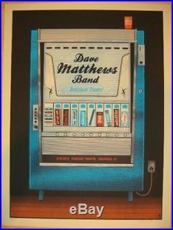 2012 Dave Matthews Band Hartford Candy Machine Concert Poster 5/25 #/675 Bonus