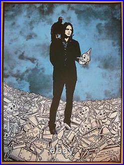 2012 Jack White Omaha Silkscreen Concert Poster by Rob Jones S/N