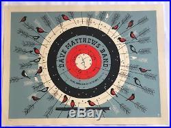 2013 Dave Matthews Band Bethel Woods Archery Target Rare Concert Poster 7/2