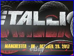 2017 METALLICA Manchester Arena England Concert Poster 36/320 October 28th UK