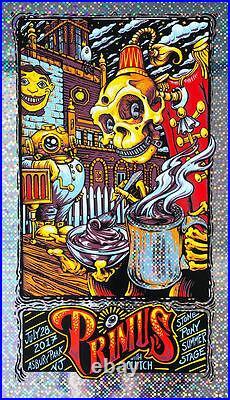2017 Primus Asbury Park Foil Variant 17 Concert Tour Poster #/20 Aj Masthay S/n