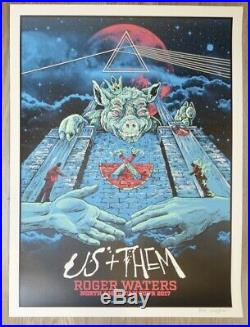 2017 Roger Waters US Tour Blue Silkscreen Concert Poster S/N by AngryBlue