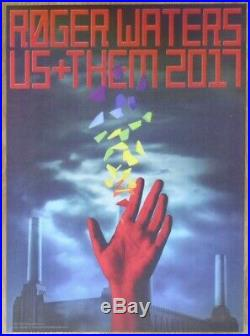 2017 Roger Waters Us + Them Tour 3-D Lenticular Concert Poster by