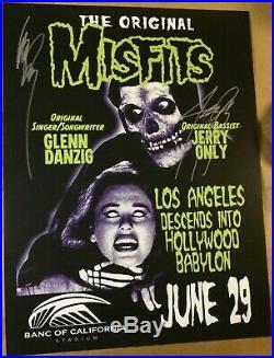 2019 Misfits Los Angeles Autographed Glen Danzig Concert Poster Fairey 7/29