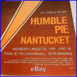 AC/DC rare 1980 Concert Poster Humble Pie Back in Black tour original