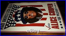 ALICE COOPER Make America Sick Again Poster Concert Print President 2016 TRUMP