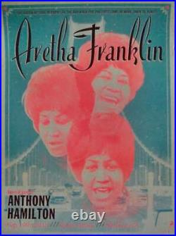 ARETHA FRANKLIN OAKLAND 2015 Limited edition print Concert poster KII ARENS Mint