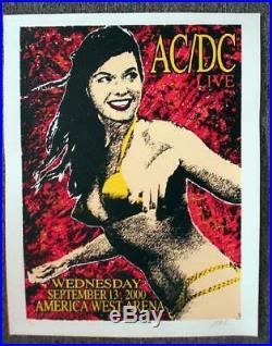 Ac/dc Phoenix 2000 Original Concert Poster Kuhn Silkscreen