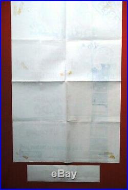 Ac/dc Pop In Park 1976 Lock Up Your Daughters Bon Scott Angus Concert Poster