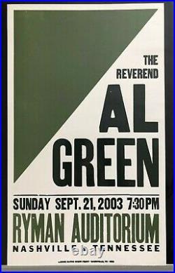 Al Green Hatch Show Print Concert Poster @ Ryman Auditorium in Nashville TN 2003