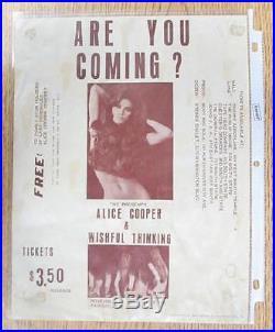Alice Cooper Salt Lake City 1970 Concert Flyer Poster Original