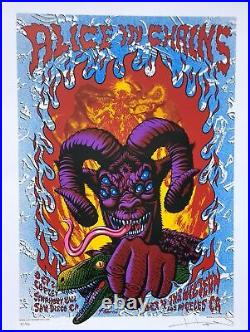 Alice In Chains Concert Poster 2016 Justin Hampton Blue Variant