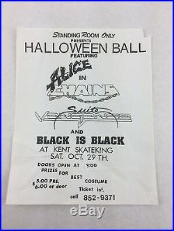 Alice in Chains Suite Vengence Black is B. At Kent Skateking Concert Poster
