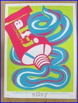 Alt-j Denver 2014 Original Concert Poster Dan Stiles Silkscreen Fillmore