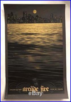 Arcade Fire Dallas Tx 2005 Original Concert Poster Todd Slater Silkscreen Le75