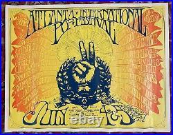 Atlanta Pop Festival Led Zeppelin Janis Joplin Cta Winter 1969 Original Poster