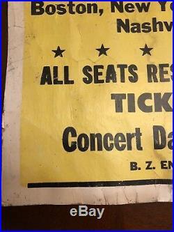 Authentic Vintage Nirvana Nevermind 1992 Concert Poster Memorabilia