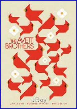 Avett Brothers Boulder 2011 Original Concert Poster Dan Stiles Silkscreen