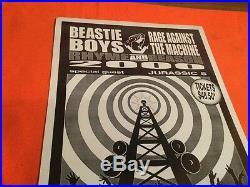 BEASTIE BOYS 2000 ###ORIGINAL CONCERT Poster 17X11 PITTSBURGH SHO