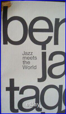BERLIN JAZZ FESTIVAL 1967 German A1 concert poster GUNTHER KIESER MILES DAVIS