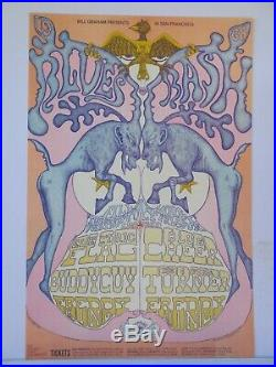 BG128-OP1 Buddy Guy Tina Turner Fillmore Concert Poster Bill Graham