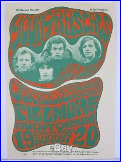 BG24 OP1 Young Rascals Quicksilver Concert Poster Fillmore Bill Graham