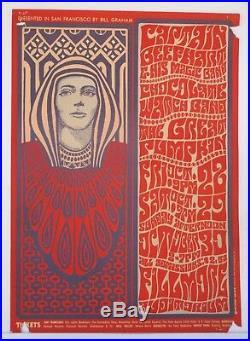 BG34 Captain Beefheart Fillmore Concert Poster Bill Graham