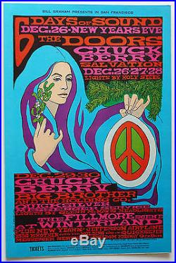 BG99 Six Days of SoundDOORSBERRYOriginal Fillmore Concert Poster MacLean