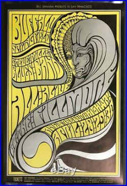 BG-61 Fillmore Auditorium 1967 Concert Poster Buffalo Springfield Steve Miller