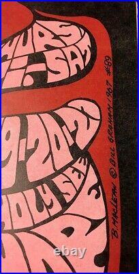BG-89 Fillmore Auditorium 1967 Concert Poster Eric Burden & Animals Mother Earth