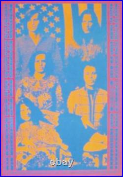 BIG BROTHER JANIS JOPLIN NEON ROSE NR3 1967 concert poster MATRIX VICTOR MOSCOSO