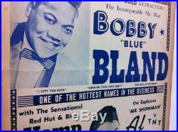 BOBBY BLUE BLAND'62 Original Boxing-Style Concert Poster HAMP SIMMONS AL BRAGGS
